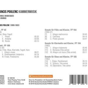 Francis Poulenc: Chamber Music - Ensemble Arabesques