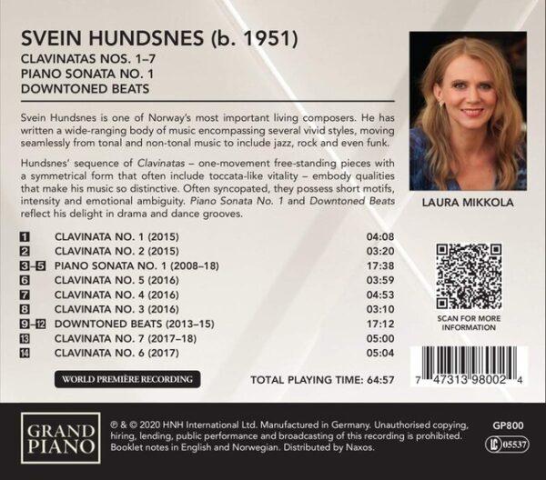 Svein Hundsnes: Clavinatas Nos. 1-7, Piano Sonata No. 1, Downtoned Beats - Laura Mikkola