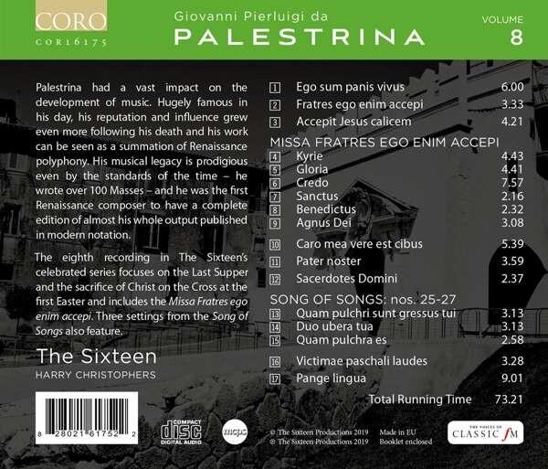 Palestrina Edition Vol. 8: Missa Fratres Ego Enim Accepi - The Sixteen