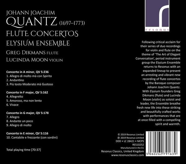 Johann Joachim Quantz: Flute Concertos - Greg Dikmans