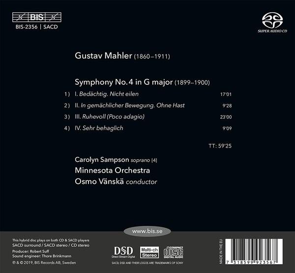 Mahler: Symphony No. 4 - Osmo Vanska