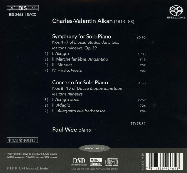 Charles-Valentin Alkan: Concerto And Symphony For Solo Piano - Paul Wee