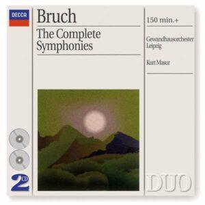 Bruch: Symphonies / Works For Violin & Orchestra - Accardo / Masur