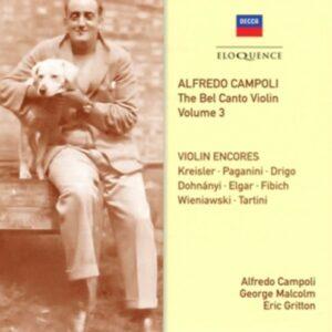Bel Canto Violin Vol.3 - Alfredo Campoli