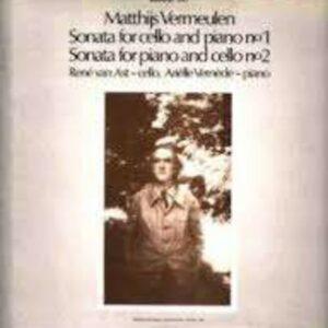 Matthijs Vermeulen: Sonatas For Cello And Piano, Nos.1&2 - Rene van Ast