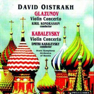 Glazounov, Kabalevski : Concertos pour violon. Oistrakh, Kondrachine, Kabalevski.