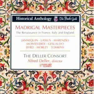 Madrigal Masterpieces : La Renaissance en France, Italie et Angleterre. Consort Alfred Deller.