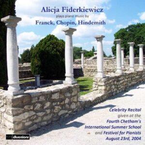 Cesar - Chopin, Frederic - Franck: Alicja Fiderkiewicz Plays