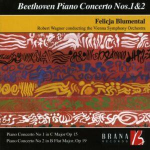 Beethoven: Piano Concertos Nos.1 & 2 - Vienna Symphony Orchestra / Wagner