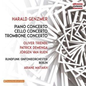 Harald Genzmer: Piano Concerto, Cello Concerto , Trombone Concerto - Oliver Triendl