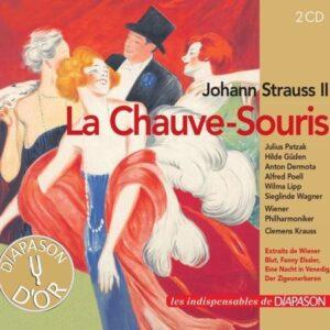 Johann Strauss II : La Chauve-Souris, opérette. Patzak, Güden, Dermota, Poell, Lipp, Wagner, Krauss.