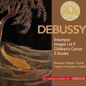 Debussy : Estampes, Images I et II, Children's Corner, 5 Etudes. Bavouzet, Meyer, Cortot, François, Horowitz, Haskil.