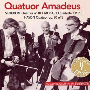 Le Quatuor Amadeus joue Schubert, Mozart et Haydn.