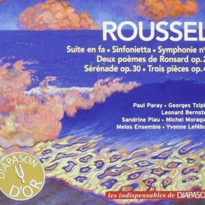 Albert Roussel : Suite en fa - Sinfonietta - Symphonie n° 3 - Deux poèmes - Sérénade - Trois pièces. Piau, Moraguès, Lefébure, Paray, Tzipine, Bernstein