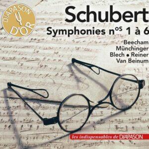 Schubert : Symphonies n° 1-6. Beecham, Münchinger, Blech, Reiner, van Beinum.