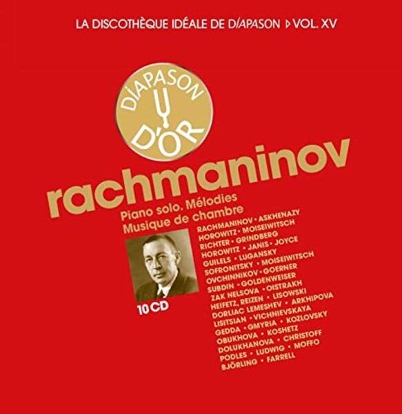La discothèque idéale de Diapason, vol. 15 / Rachmaninov : Œuvres pour piano seul - Mélodies - Musique de chambre.