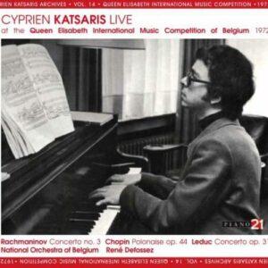 Rachmaninoff / Chopin / Leduc: Cyprien Katsaris Live - Cyprien Katsaris