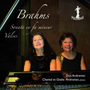 Brahms : Œuvres pour duo de piano. Duo Andranian.