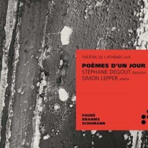 Poèmes D'Un Jour - Stephane Degout
