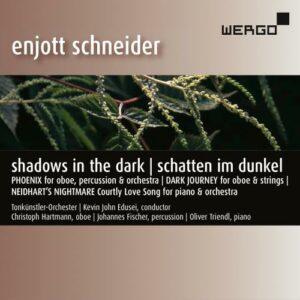 Enjott Schneider : Shadows in the Dark. Hartmann, Fischer, Triendl, Edusei.