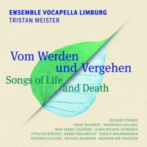 Songs of Life and Death : Mélodies a cappella pour chœur d'hommes. Meister.