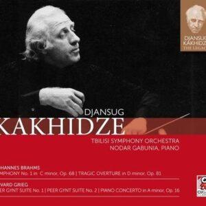 Brahms: Symphony No.1 / Grieg: Peer Gynt Suite, Piano Concerto - Djansug Kakhidze