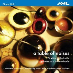 Simon Holt : A table of noises. Currie, Hanslip, Collon.
