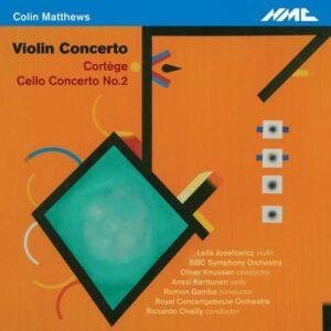 Colin Matthews : Concertos pour violon et violoncelle. Josefowicz, Karttunen, Knussen, Chailly, Gamba.