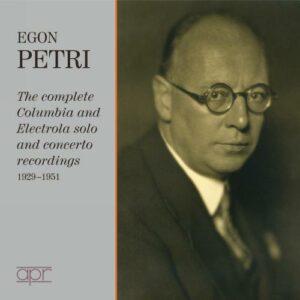 Egon Petri : Les enregistrements Columbia et Electrola.