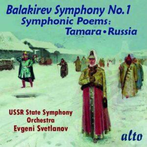 Mily Balakirev: Symphony No. 1, Symphonic Poems - Evgeni Svetlanov