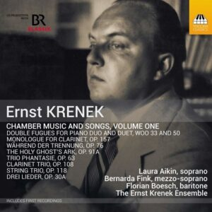 Ernst Krenek: Chamber Music And Songs - Volume On - Bernarda Fink