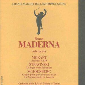 Mozart: Sinfonie Nr. 18 / Stravinsky: Le Sacre du Printemps - Bruno Maderna