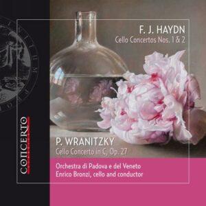 Haydn, Wranitzky : Concertos pour violoncelle. Bronzi.