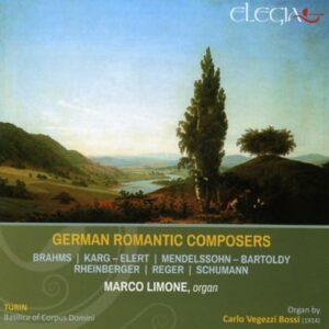 Musique romantique allemande pour orgue. Brahms, Karg-Elert, Mendelssohn, Rheinberger, Reger, Schumann.