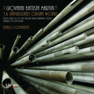 Giovanni Battista Martini : Œuvres pour orgue non-publiées. Cominetti.