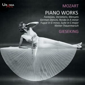Mozart : Œuvres pour piano. Gieseking.