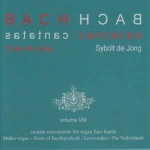 Bach: Cantata Movements for Organ Four Hands Vol.8 - Euwe de Jong & Sybolt de Jong