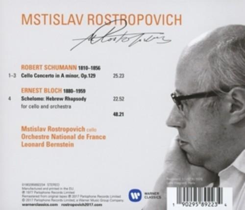 Schumann / Bloch: Cello Concerto / Schelomo - Mstislav Rostropovich