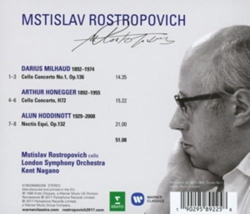 Milhaud / Honegger: Cello Concertos - Mstislav Rostropovich