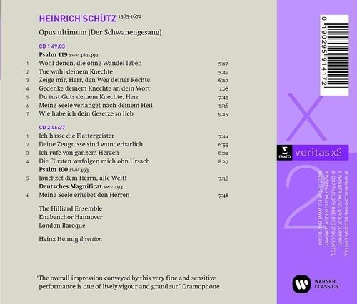 Schütz: Schwanengesang - The Hilliard Ensemble