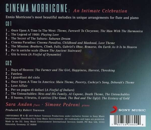 Cinema Morricone, An Intimate Celebration - Sara Andon