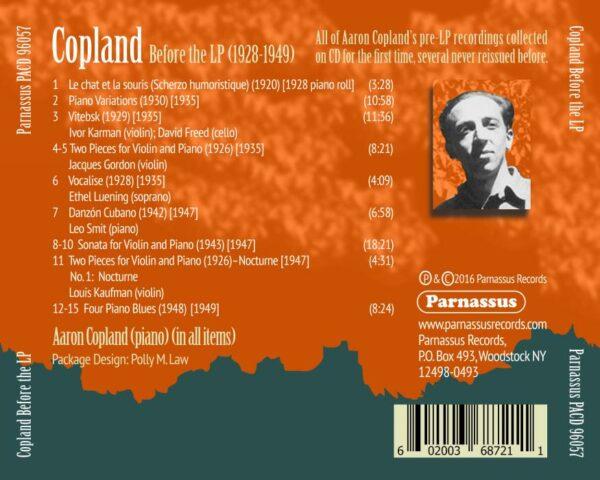 Copland : Before the LP, 1928-1949. Luening, Copland, Karman, Freed, Gordon, Smit, Kaufman.