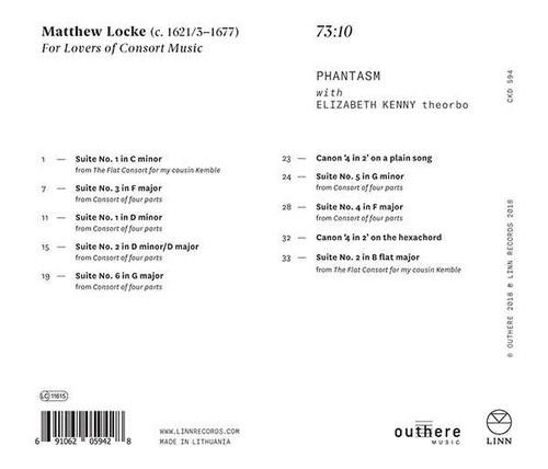 Locke: For Lovers Of Consort Music - Phantasm