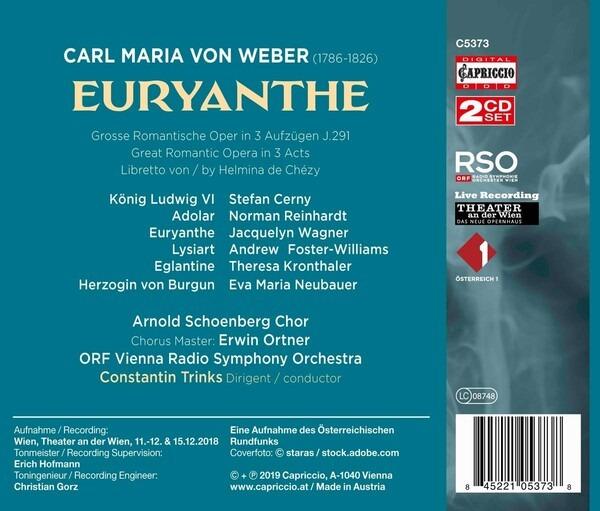 Carl Maria Von Weber: Euryanthe - Norman Reinhardt