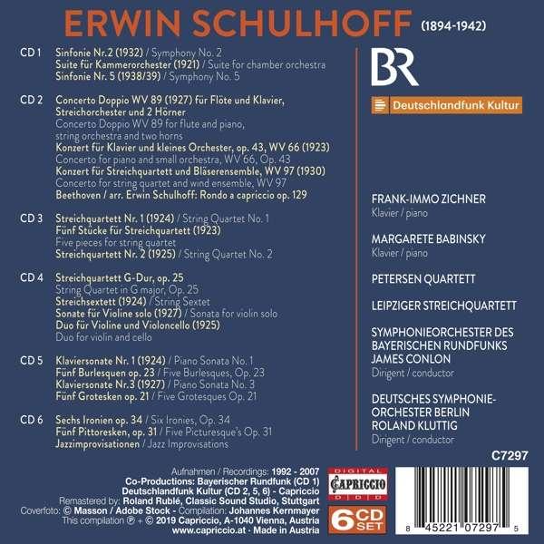 Erwin Schulhoff - The Capriccio Recordings