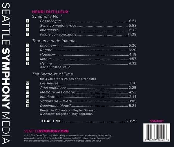 Dutilleux: Symphony No. 1, Tout Un Monde Lointain - Seattle Symphony