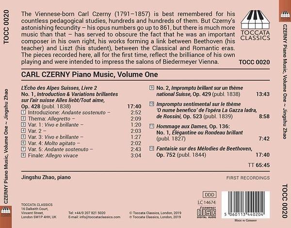 Carl Czerny: Piano Music Vol.1 - Jingshu Zhao