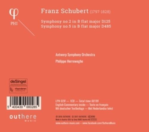 Schubert: Symphonies Nos. 2 & 5 - Philippe Herreweghe