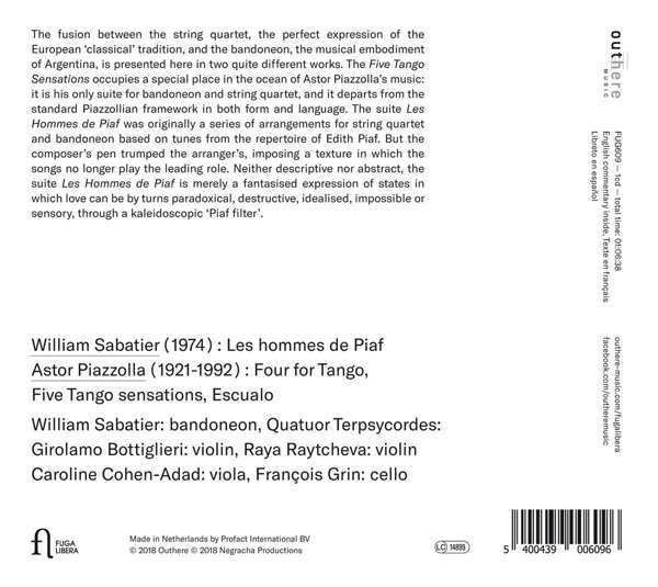 Piazzolla - Piaf: Piazzolla - Piaf - William Sabatier