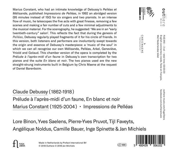 Marius Constant: Impressions de Pelleas - Lore Binon